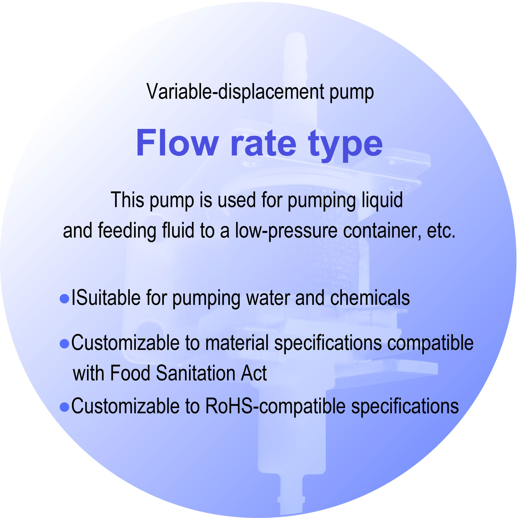 Non Capacity Type Solenoid Pump Flow Type